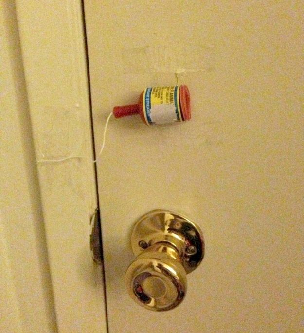 Affix a party popper to your kid's bedroom door. More