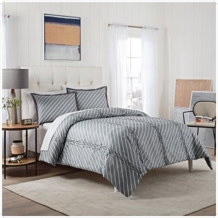 Vue Roz 3-Piece Comforter Set, Gray