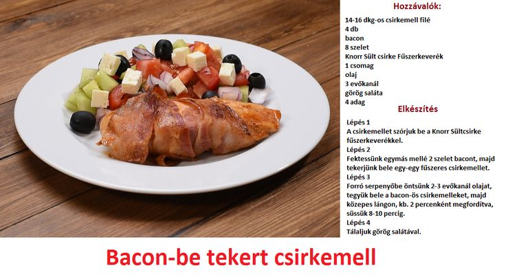 Bacon-be tekert csirkemell