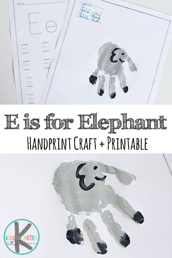 Super cute E is for Elephant letter E crafts, alphabet practice for kindergarten, letter e activities for preschool, and alphabet handart projects for kids from toddler, preschool, to kindergarten