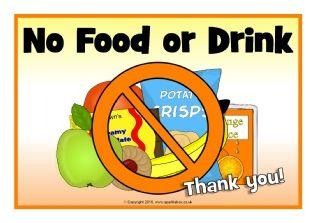 No Food or Drink Signs (SB11471) - SparkleBox
