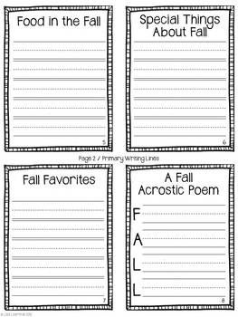 All About Fall Activity ~ Accordion Fold Mini-Book