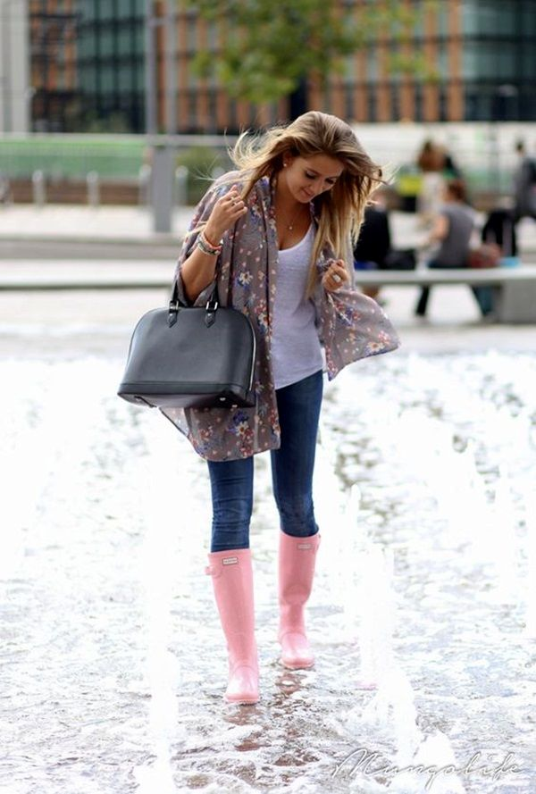 Best 25 rain outfits ideas on pinterest black hunter boots 45 cute rainy day outfits to look fabulous even in monsoons ccuart Gallery