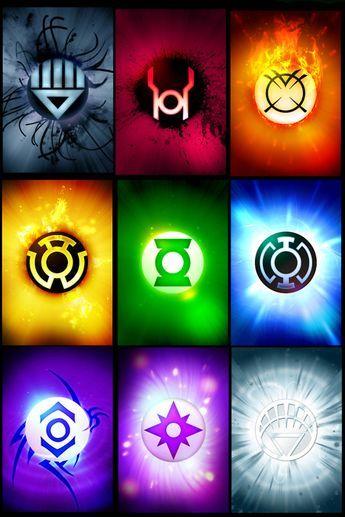 White Lantern Ring Lantern Corps Symbols Green Lantern