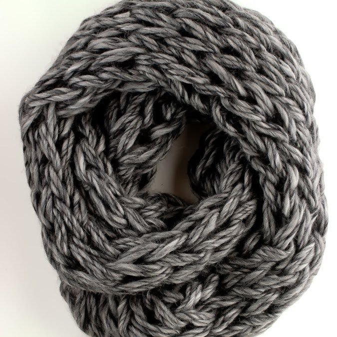 Arm Knit Cowl Tutorial