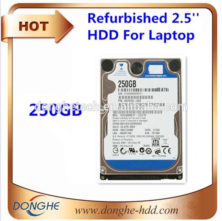 250GB cheap used hard drives sata for laptop bulk computer parts 2.5 hdd/ssd hard drive