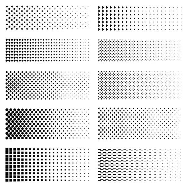 Dotted Gradient Set Vector Fading Circle Dots Textures And Black Halftone Dots Dot Texture Vector Pattern