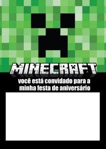 5 downloads grátis de convite para a festa Minecraft