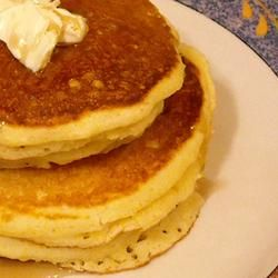 Corn Muffin Pancakes Allrecipes.com -- these are so easy to make! but it's NOT 2 tblspoons of baking powder. try 2-3 tsp or it will be super salty tasting