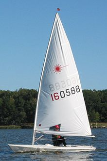 The International Laser Class sailboat, also called Laser Standard and the Laser One is a popular one-design class of small sailing dinghy.