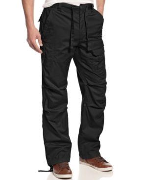 Sean John Men's Big and Tall Pants, Pleat Pocket Flight Cargo Pants -