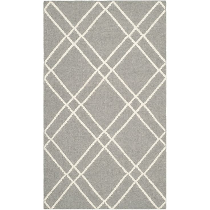 safavieh handwoven moroccan dhurries grey ivory wool rug 4u0027 x 6 - 3x5 Rugs
