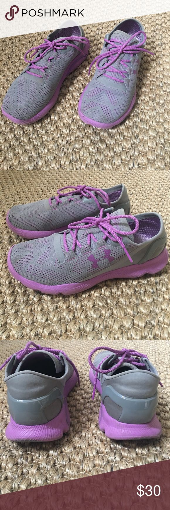 under armour tennis shoes🎉SALE🎉 Running shoes from under armour. Have a slight tear in front netting. Under Armour Shoes Athletic Shoes