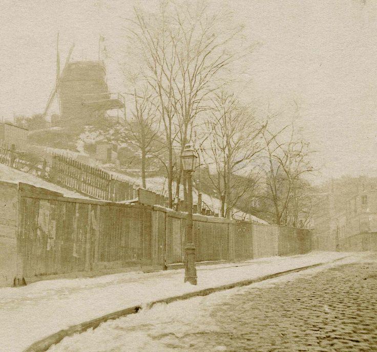 Rue Lepic vers 1886 (© Henri Daudet - Société des Amis du Vieux Montmartre)