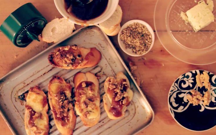 Bruschetta de Gorgonzola e Nozes
