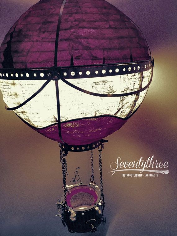 SteamBalloon Lamp / SteamPunk lamp by SeventythreeNYC on Etsy