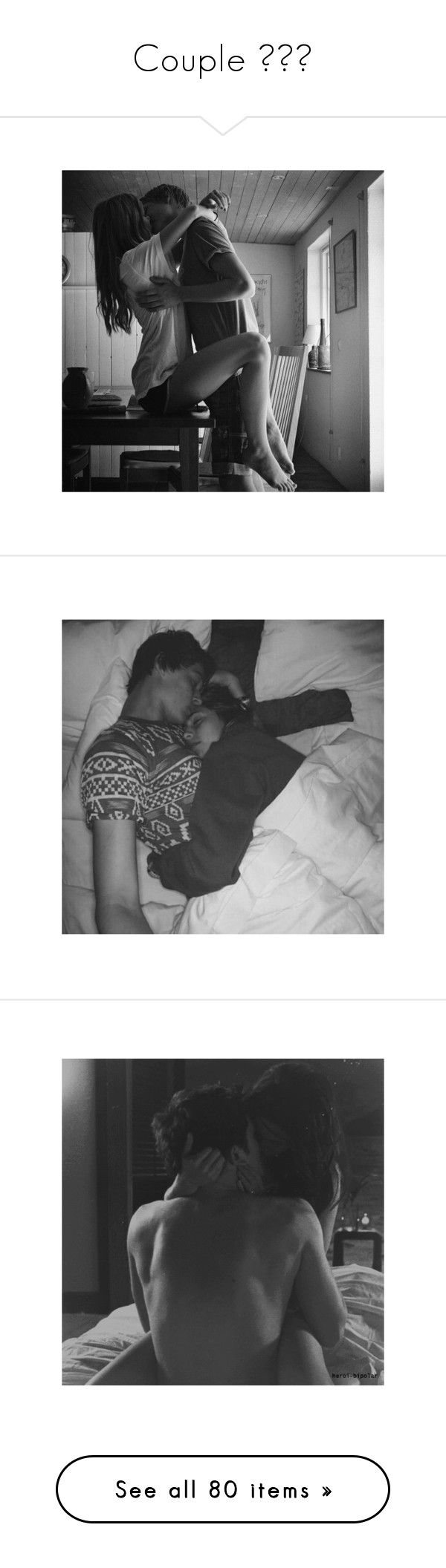 """""""Couple ❤️"""" by wwemelody ❤ liked on Polyvore featuring couples, pictures, black and white, backgrounds, love, black & white, b&w, misc, pics and sexy"""