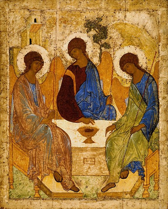 Holy Trinity Catholic POSTERS Byzantine icon by TanabeStudio
