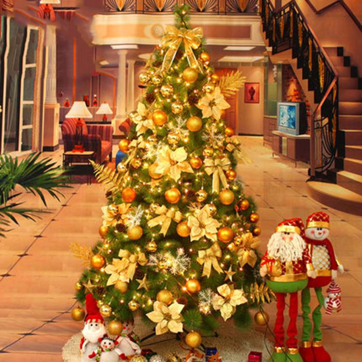 LOT 2/3/5/6FT Deluxe Decorated Artificial Christmas Xmas Tree Pine Trees SET UK
