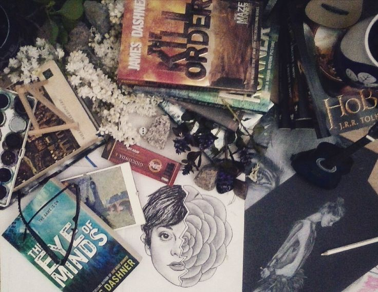 #drawings #book #pencil #guitar #themazerunner #theeyeofminds #flowers #hobbit