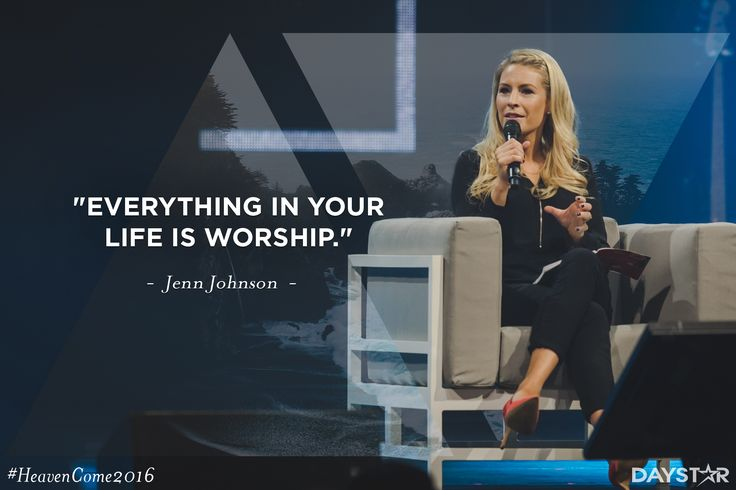"""""""Everything in your life is worship."""" -Jenn Johnson [Click Image to Watch Full Episode at Daystar.com]"""
