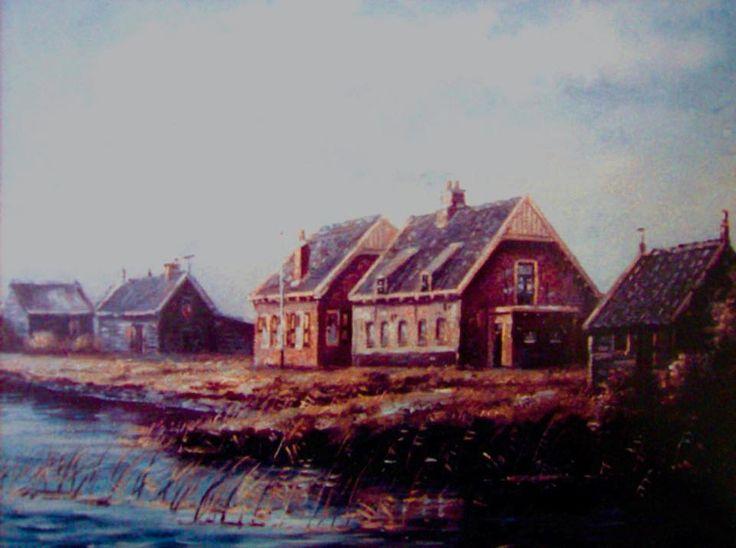 zalmvisserij Klein Profijt rond 1900.