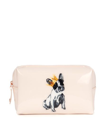 Put anything and everything in this dog-friendly makeup bag // PAMIL Small Printed Wash Bag