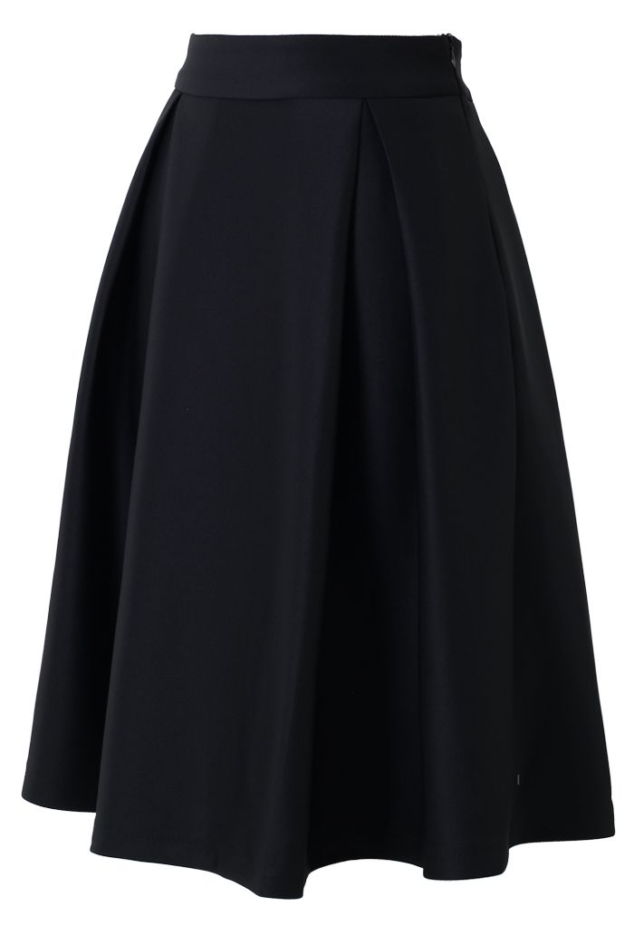 a line midi skirt in black new arrivals retro