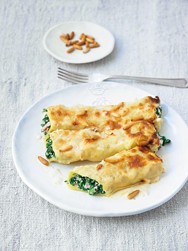Ihr habt Gäste? Dann eignet sich unser Rezept für Spinat Ricotta Canneloni ganz wunderbar!