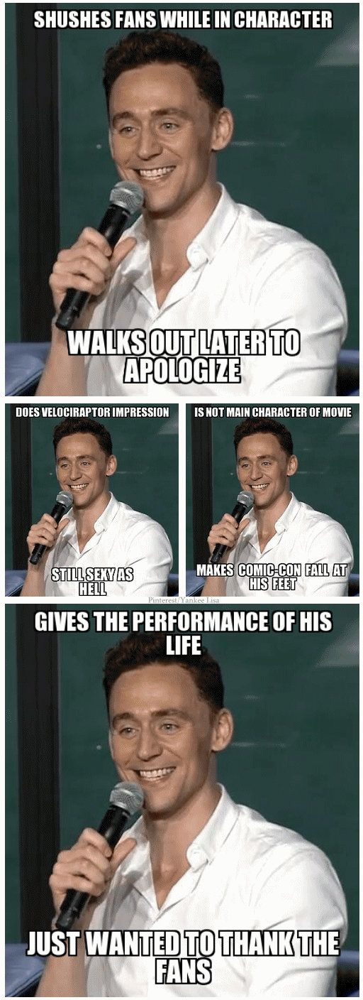 Tom won my heart all over with all he did for comic con this year. One of a kind seriously