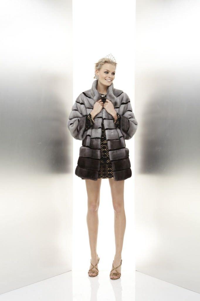Mink fur coat.