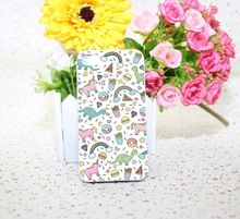 eenhoorn regenboog citaten donut witte harde telefoon geval voor iphone 4 4s 5 5s 5c 6 6s plus gratis verzending(China (Mainland))