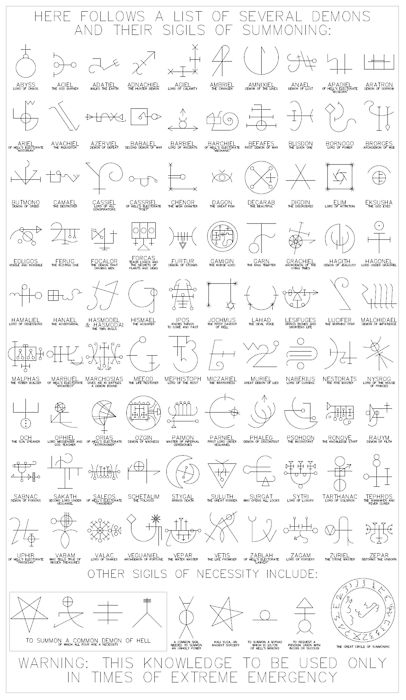 Demon Sigils (Chaos Magic)  http://en.wikipedia.org/wiki/Sigil_(magic)