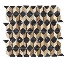 NM Reflections Black/White/Beige Mosaic