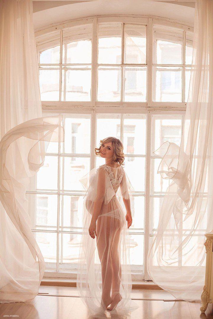 """Будуарное платье """"Мелисса"""". Лёгкое будуарное платье нежного мятного цвета, с интересными плечиками-""""крылышками"""" и кружевной отделкой. Подходит ДЛЯ БЕРЕМЕННЫХ."""