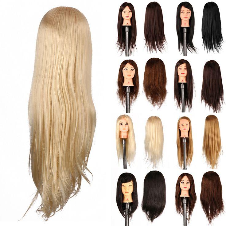 Hair Stylish Salon Mannequin Hairdressing Training Model Head Practice + Clamp