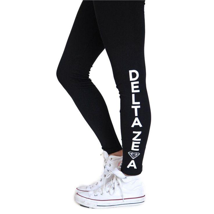 Delta Zeta Kick It Leggings SMALL