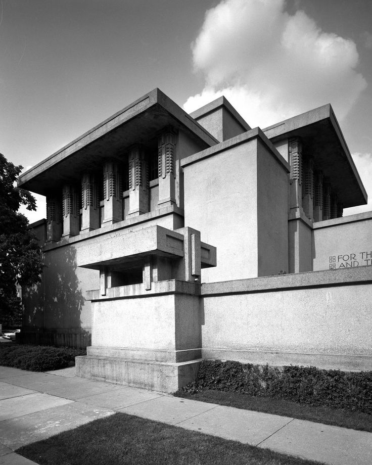 8 best unity temple frank lloyd wright images on pinterest for Frank lloyd wright architettura organica