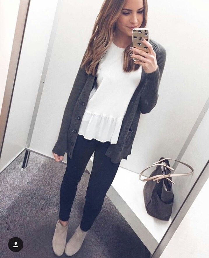 cute, simple, layers, fall outfit... this is super cute, I'm just thinking a lil bit different style of shirt tho.