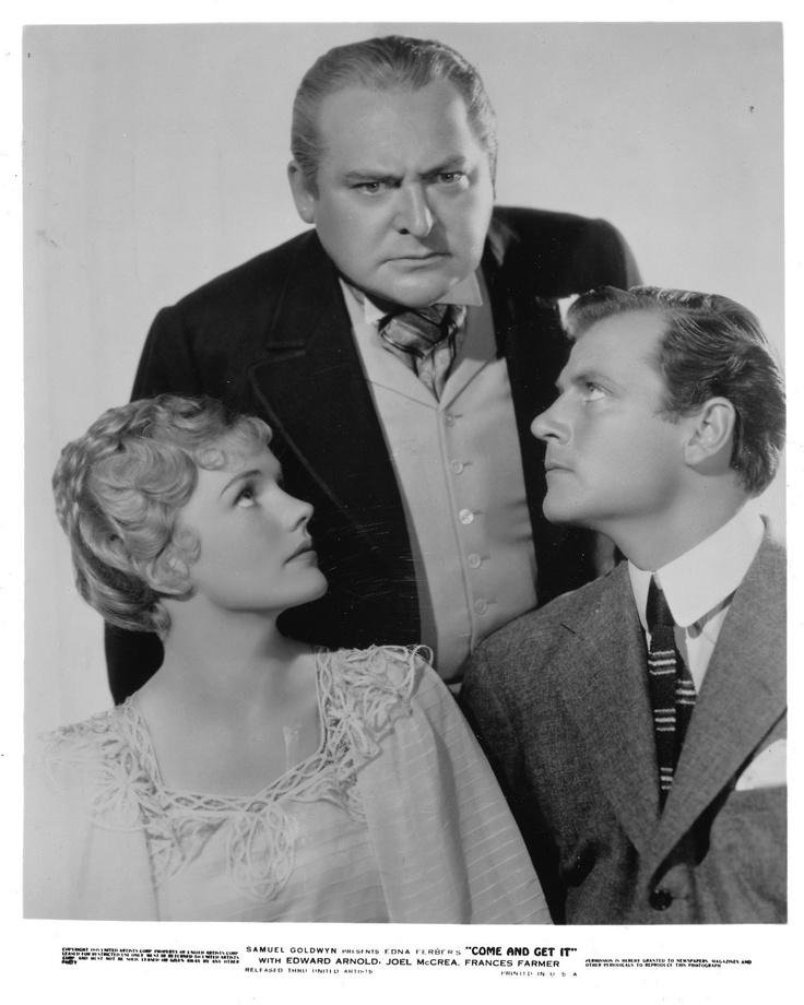 Frances Farmer, Edward Arnold & Joel McCrea | Frances ...