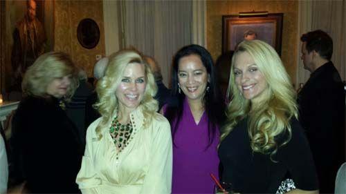 Cocktail Hour at The Players Club.....Michelle-Marie Heinemann,  Cassandra Seidenfeld, Consuelo Vanderbilt Costin