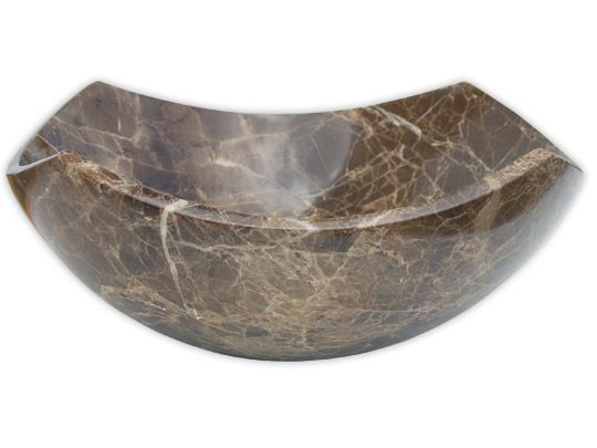 Stone Bathroom Vessel Sinks S027 Dark Emperador Marble Sink
