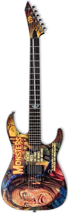 One of Kirk Hammet's horror movie Guitars from ESP --- https://www.pinterest.com/lardyfatboy/