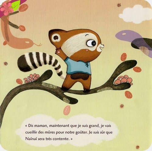 Mûres mûres, conte minuscule d'après Guo Ju-Jing, texte de Chun-Liang Yeh Illustrations de Gaëlle Duhazé, publié en 2008 par les éditions HongFei Cultures.