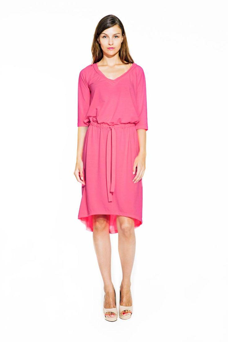 IMRECZEOVA SS14 pink jersey dress