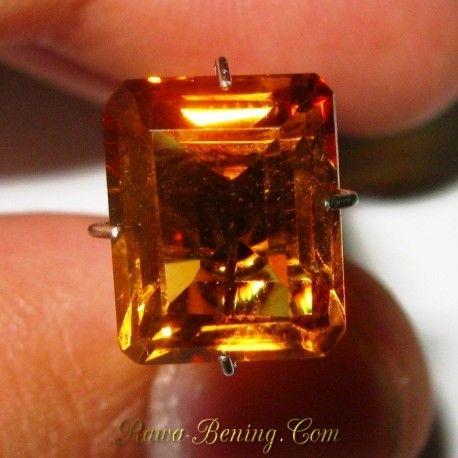 Natural Citrine Kuning Keemasan Rectangular 3.62 carat
