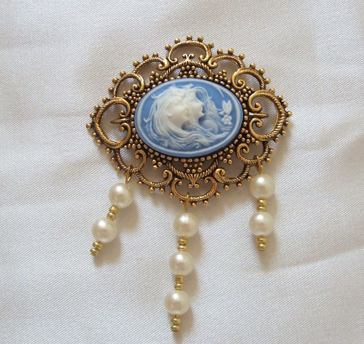 Hand made cameo brooch