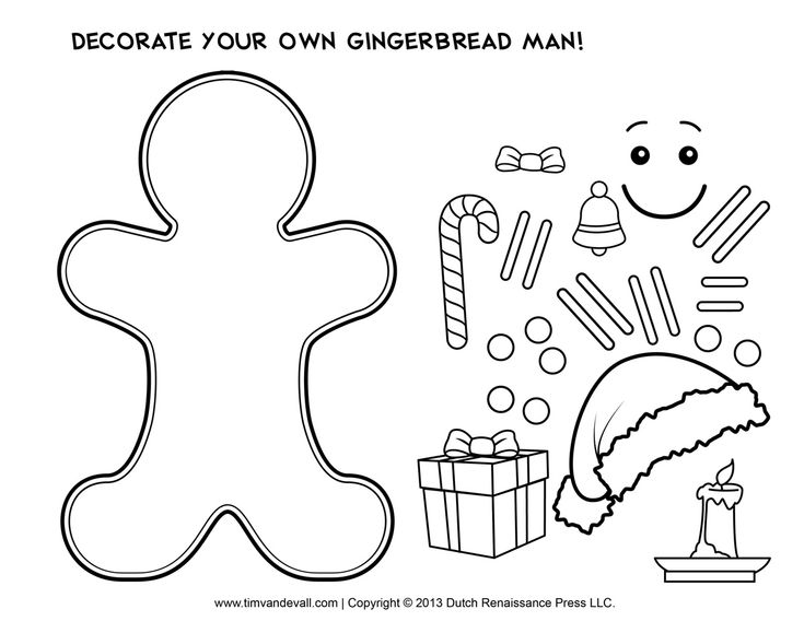 The 25 Best Gingerbread Man Template Ideas On Pinterest