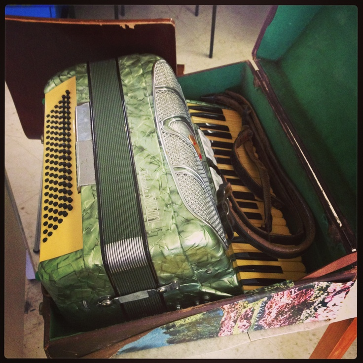 Vintage Piano Accordion. Radest thing I have seen in an Op Shop from what my memory serves me. $1000 is also probably the biggest price tag I have laid eyes on in an Op Shop also... Makes you wonder how such an instrument in mint condition found itself in an Op Shop. That is indeed a generous donation, destined for the arms of a richer music lover...