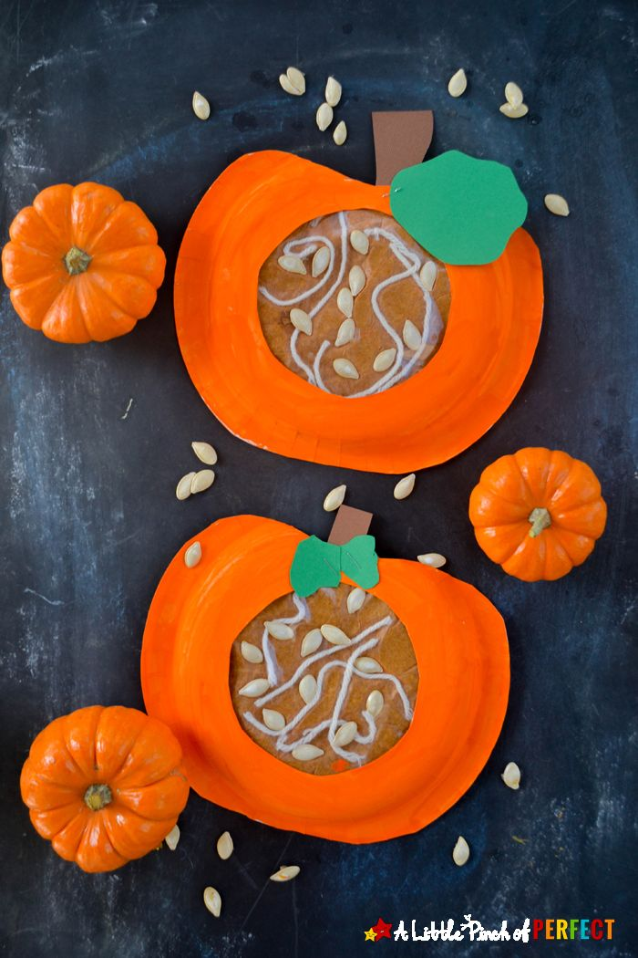 Kid Fall Craft Ideas Part - 37: Learning About Whatu0027s Inside A Pumpkin Paper Plate Kids Craft: Kids Can  Craft And Learn